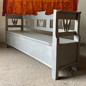 Antique Box Bench in Stockholm Grey