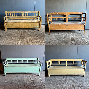 Antique Box Benches New Stock