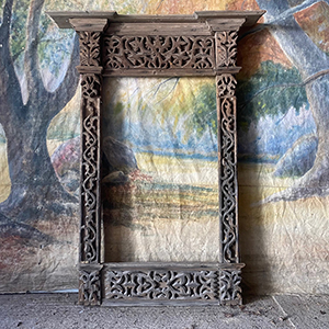 Antique Carved Window Surround with Imperial Eagle