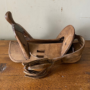 Antique Carved Wooden Saddle