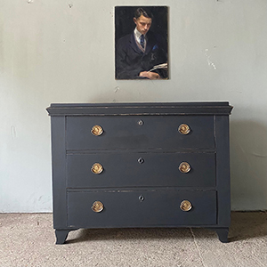 Antique Commode in Warm Black