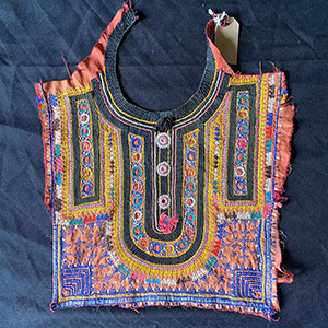 Antique Embroidered Panel from Hazara Tribal Dress
