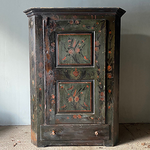 Antique Marriage Cupboard with Birds amp Heart