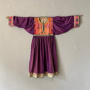 Antique Nomad Tribal Dress with Embroidery