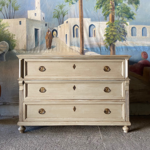 Antique Painted Pine Commode with Neo-Classical Features