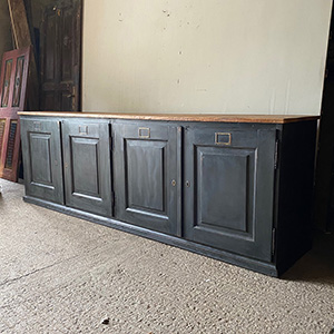 Substantial Antique Painted Sideboard in Charcoal