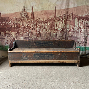 Antique Pine Marriage Bench