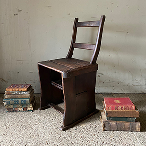 Antique Pine Metamorphic or Library Chair