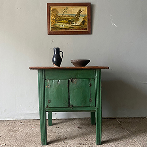 Antique Shepherds Hutch Table in Original Paint