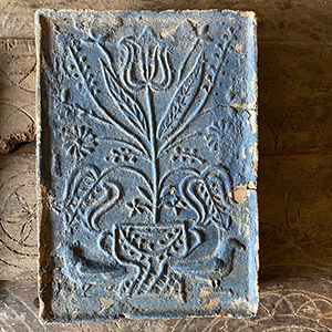 Antique Stove Tile with Birds amp Tree of Life