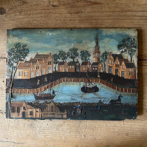 Antique Straw-work and Cut-Paper Painted Picture