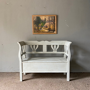 Antique Style Box Bench in Pale Blue