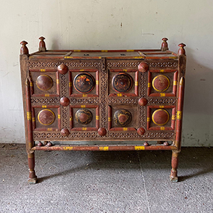 Antique Turkmen Dowry Chest in Original Paint