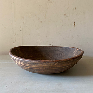 Antique Wooden Turned Bowl