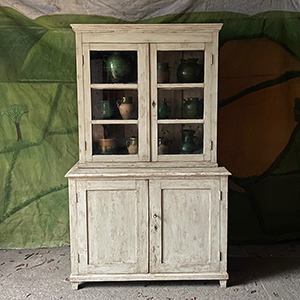 Apothecary Store Glazed Dresser in Old White