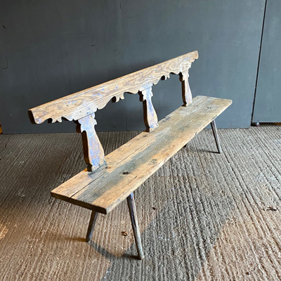 Carved Pine Bench