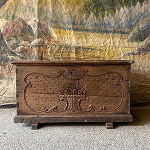 Baroque Marriage Chest in Oak