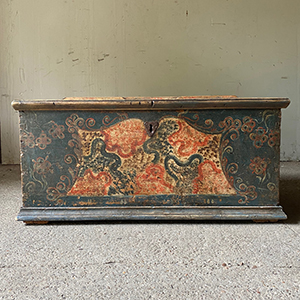 Baroque Marriage Chest in Original Paint