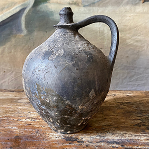Black Fired Pottery Water Jug