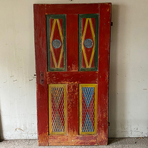 Carved amp Painted Folk Art Country Door
