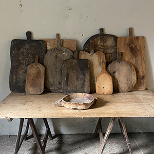 Collection of Antique Bread Boards