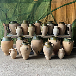 Collection of Part Glazed Vintage Pottery