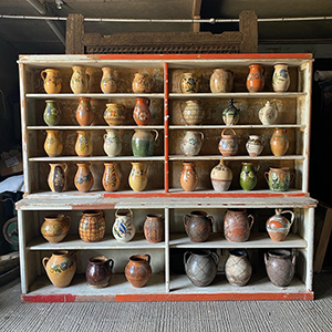 Collection of Glazed Peasant Pottery