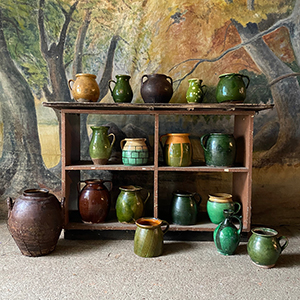 Collection of Green amp Plain Glazed Pottery