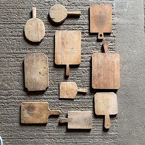 Collection of Sculptural Bread Boards