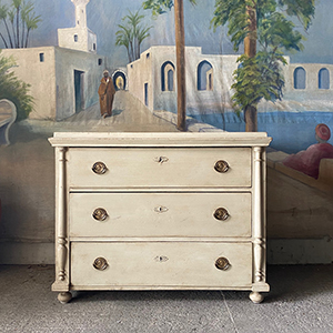Decorative Antique Pine Chest in Old White
