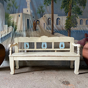 Delightful Decorative Painted Bench