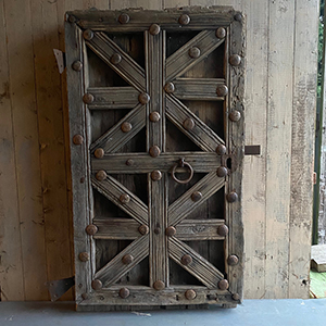 Early amp Decorative Metal amp Pine Door