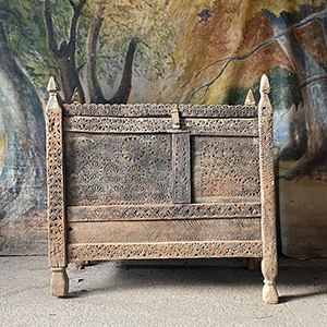 Early Carved Dowry Chest in Original Condition