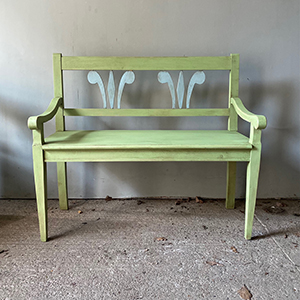 Elegant Neo-Classical Antique Style Bench