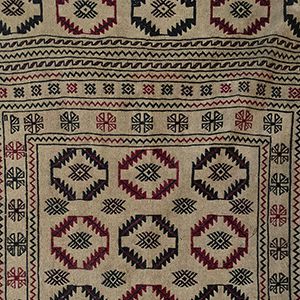 Flat Weave Tribal Kilim in Earth Colours