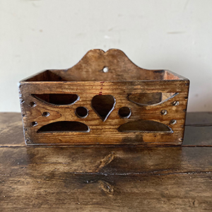 Folk Art Hanging Spice Box with Love-Heart