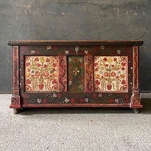 Folk Painted Marriage Box