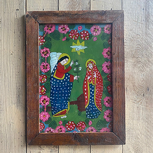 Folk Painting On Glass quotThe Annunciationquot