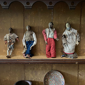 Four Neapolitan Creche Figures in Terracotta amp Wood