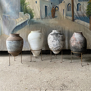 Group of Antique Urns in Original Paint