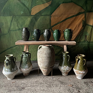 Group of Glazed and Terracotta Pots