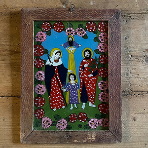 quotHoly Familyquot Folk Painting on Glass