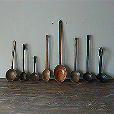 Impressive Collection of Antique Cawl Spoons amp Ladles