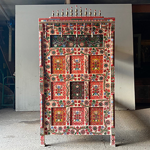 Joyous Folk Painted Pine Panel or Bunk-Bed