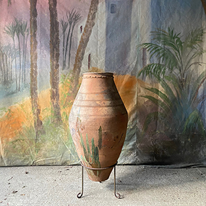 Large Antique Olive Pot by Armenian Master