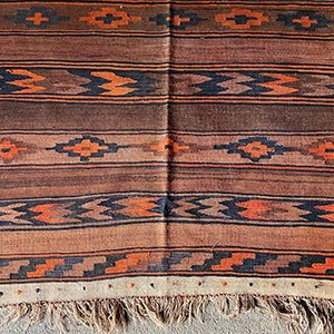 Large Tribal Kelim in Earth Colours