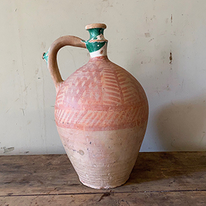 Large Water Jug with Glaze amp Red Paint