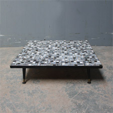 A low square coffee table