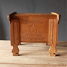 The plank built beechwood coffer