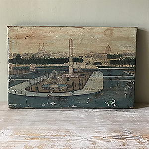 Nave Folk Art Painting of Place de La Concorde